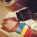 Wrist bands that got us food, beer and dessert!
